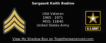 Signature Image of Bodine, Keith (Hacksaw), SGT