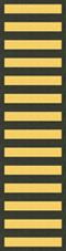 Fourteen Overseas Service Bars
